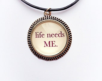 Hope Quote Necklace
