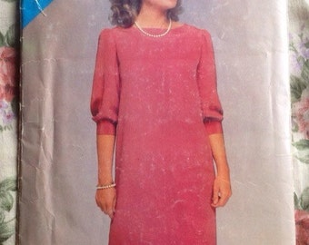 Vintage 1980s Dress Pattern // Butterick See & Sew 5244, size 8-10-12, unused