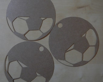 Large Kraft Soccer Futbol Gift Tags, Blank Tags; Set of 12