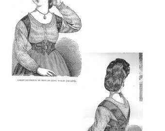 22 inch Exterior Waspie Corset from the La Mode Illustree circa 1872