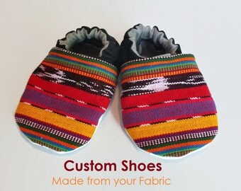 Half Wrap Scrap Shoes, Made from your woven wrap, Custom, Made to Order, Baby Booties, Slippers, Soft Soles, Babywearing, Toddler