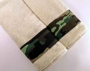 Camo Towels, Towel, Hand Towel, Camo Bathroom, Camo Gift, Towels,