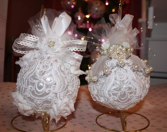 Vintage Ornaments - Set of Two