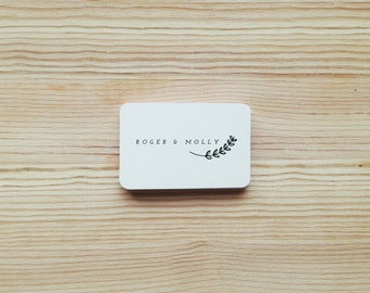 Personalised Custom Name Rubber Stamp with Wood Handle
