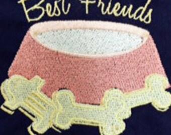 Custom Dog Bandana Embroidered/Reversible