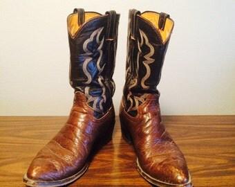 Vintage mens Western Cowboy Boots