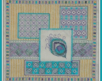 Plume - embroidery pattern