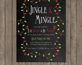 Printable Christmas Party Invitation - the Jingle Collection