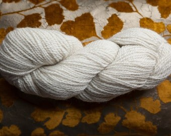Merino and English Leicester Longwool Yarn Natural White