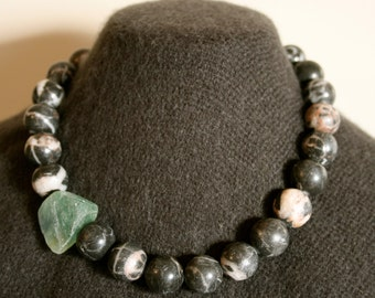 No. 3: River Jade and Fluorite Necklace