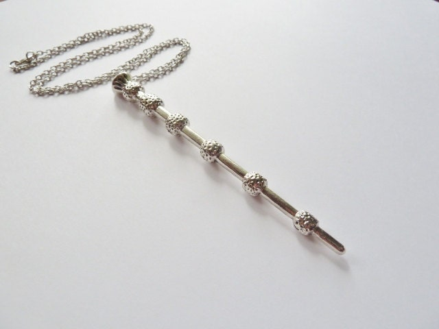 Elder wand necklace dumbledore 39 s wand deathly by justinepaige for Elder wand for sale