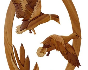 Intarsia Woodworking Pattern - DUCKS