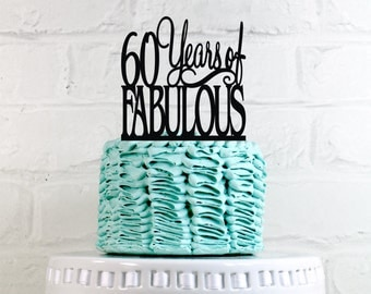 60th birthday decorations on Etsy, a global handmade and vintage ...