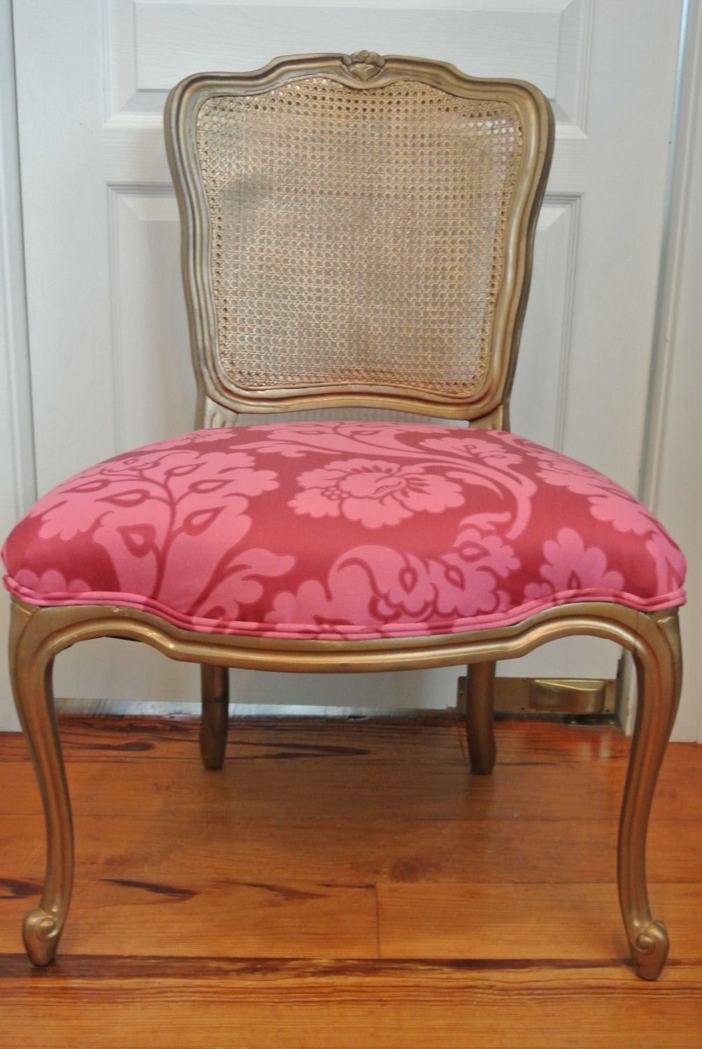 pink french vanity chair by chairwhimsy on etsy