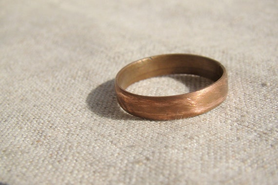Simple Mens Ring Mens Wedding Band Men Copper Jewelry Mans