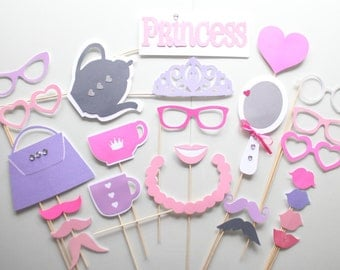 25pc * Princess/Tea Party Photo Booth Props/Photobooth Props