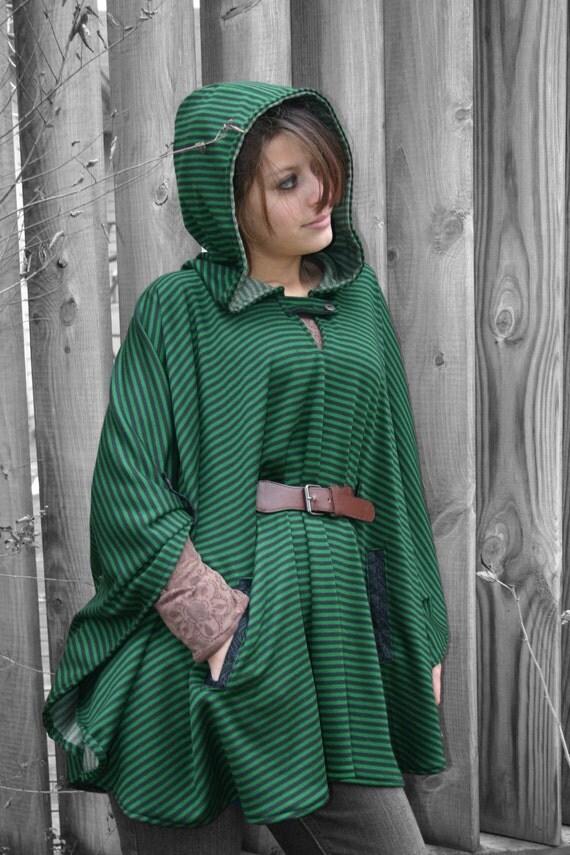 Ladies Riding Hood Poncho Pdf Pattern