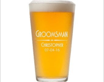 Custom Pint Glasses, SHIPS FAST, Engraved Pint Glasses, Personalized Pint Glass, Etched Pint Glasses, Custom Beer Glasses, Any Quantity