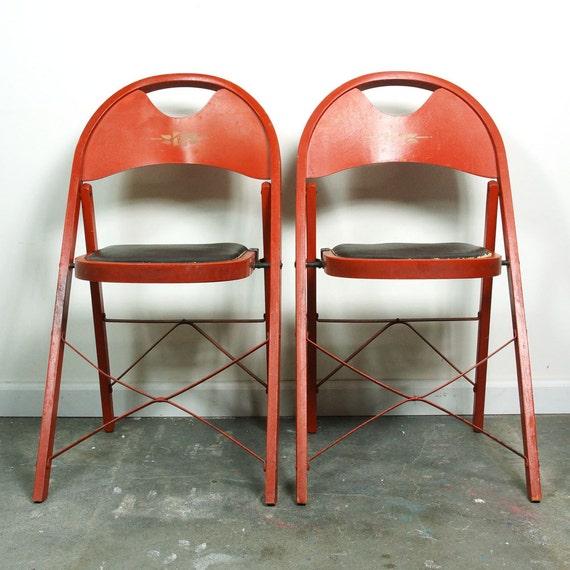 1930s Louis Rastetter Solid Kumfort Folding Chairs Set of