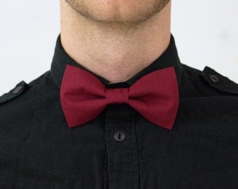 Handmade Maroon Red 'Doctor Who' Bow Tie