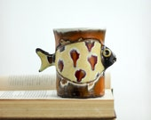 Ceramic Mug - Big Ceramic Mug - Fish Mug  - Coffe and Tea Mug - Handmade Ceramic Mug
