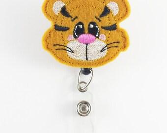 Tiger - Felt Badge Reel - Nurse Badge Holder - RN Badge Reel - Retractable ID Badge - Cute Badge Reels  Peds Badge Clip - Veterinarian