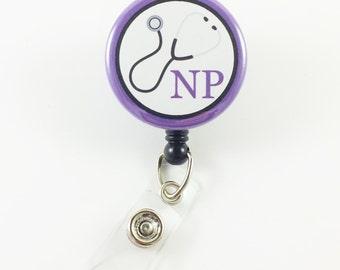 Nurse Practitioner - Badge Reel - Nurse Badge Holder - Name Badge Clip - Medical Badge Reel - NP - Retractable Badge - ID Badge Pull - RN