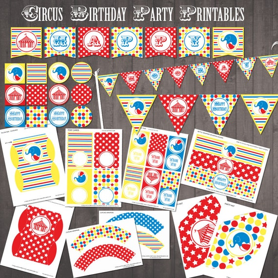 Cirucs Party Printables