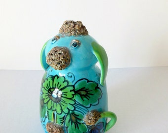 Italian Studio Pottery Piggy Bank 1970s