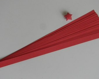 Red : Lucky Star Paper Strips (100)