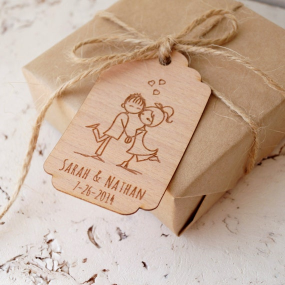 Wedding Favor Tags, Personalized Thank You Tags, Rustic Custom Favor ...