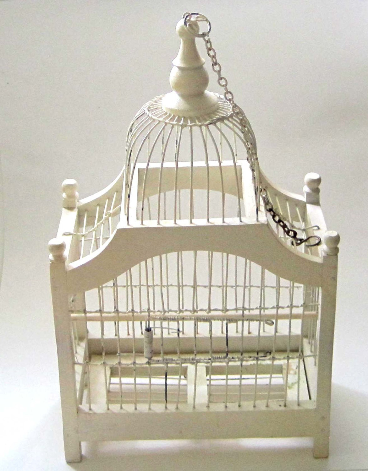 white bird cage vintage home decor castle style gondola. Black Bedroom Furniture Sets. Home Design Ideas