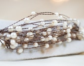Pearls on Rustic Wire - 24 feet