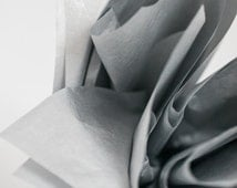 """Metallic Silver Tissue Paper 10 Sheets 