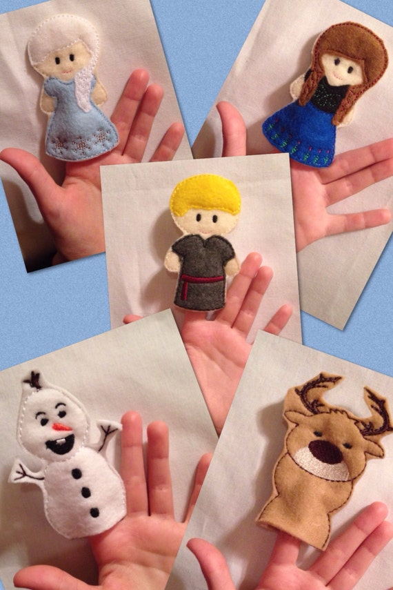 puppet stories for preschoolers cold princess finger puppets embroidered puppet 563