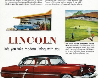 Vintage truck ad 1956 chevy task force by zippitydoodlepaper for Lincoln motor company headquarters