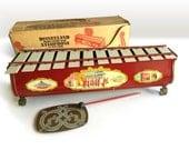 Vintage Disneyland Grand Concert Xylophone Tin Toy circa 1960s with Original Box / Disney