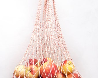 String Bag - Net Bag - Farmers Market Bag - Reusable Cotton - Grocery Tote #010