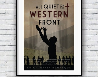 All Quiet on the Western Front, Movie poster,  Poster, Literature print, Quote poster, Literature art, Wall decor