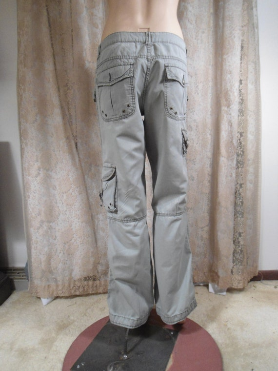 Size 13 Womens Vintage 80 S 90 S Green Cargo Pants