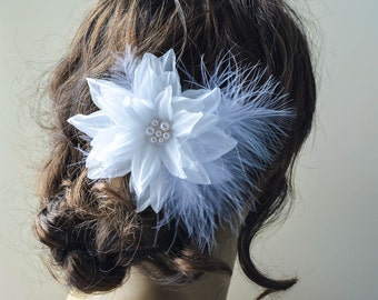 Wedding Silk Flower Hair Clip - Bridal Hair Accessories - Flowers Silk - Bridal Hair Flower - Silk Hair Flower - Bridal Flower clip