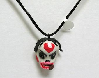 OOAK Handmade Zombie Walking Dead Pendant Necklace 13 Undead Halloween Creepy Scary