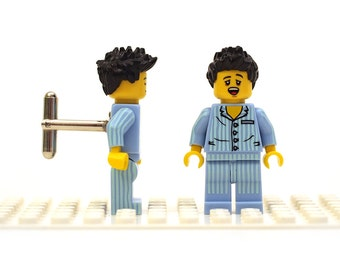 Sleepyhead cufflinks. Cufflinks made with LEGO(R) bricks.   Cuff links Cufflink Wedding gift