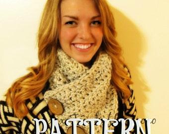 PATTERN: Crochet Scarf/Cowl  Pattern