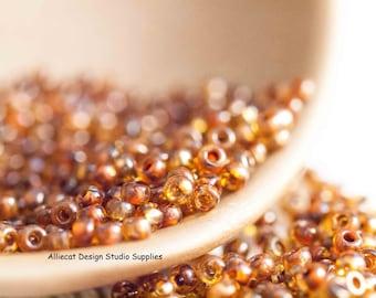 10g Light Topaz Picasso 8/0 Miyuki Seed Beads (CB008)