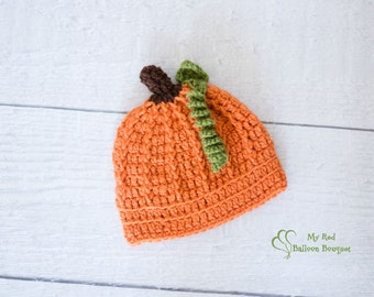 Pumpkin Hat - Newborn Pumpkin Hat - Baby Pumpkin Hat - Child Pumpkin Hat - Adult Pumpkin Hat - Halloween Hat - Halloween Photography Prop