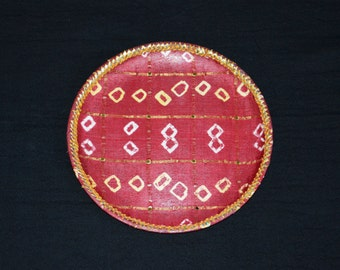 Items similar to decorative puja thali decorative plate for Aarti dish decoration