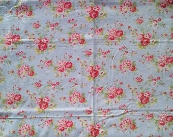 Mahogany Light Blue And Pink Rose Floral Print Large