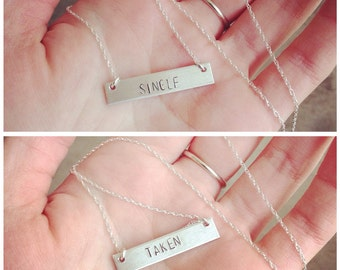 Single / Taken reversible necklace