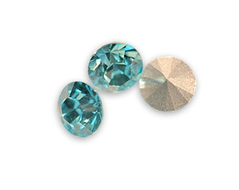 Swarovski crystal Aqua Marine 1028 Xilion SS39 (8mm) round-conical bottom ss 39